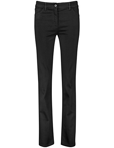 GERRY WEBER Edition Damen 92307-67930 Straight Jeans, Schwarz (Black Black Denim 12800), 38 (Herstellergröße:38R)