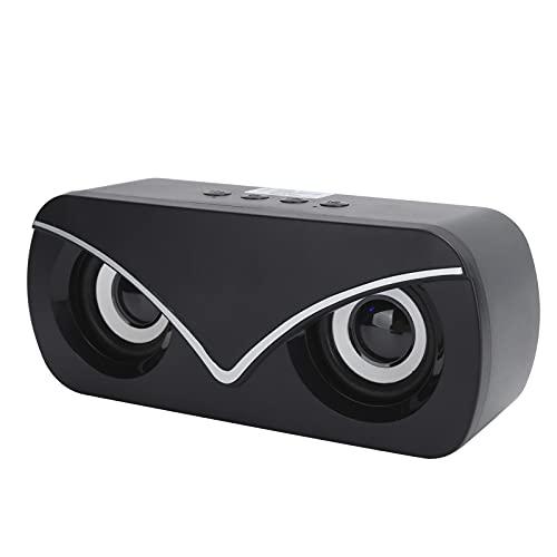 Vbestlife Altavoz Doble Bluetooth, Mini Altavoz de Audio de sobremesa con luz LED, Potente duración de la batería, múltiples Modos de reproducción(Negro)