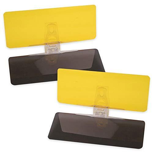 Mobi Lock Extensión de la Visera Solar Anti-Resplandor del Automóvil Visor HD para el día y la Noche Pack de Dos