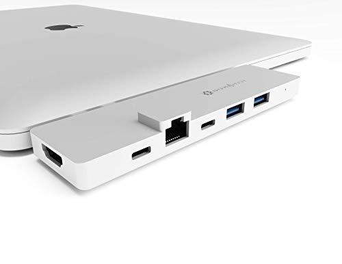 NOV8Tech - Estación de acoplamiento USB-C para MacBook Pro 2019-16 y MacBook Air 2019-18 7 en 2, 4K HDMI, Thunderbolt 3 100 W PD cargador de 40 GB de datos, 2 USB 3.0, USB 3.1 C 5 GBps