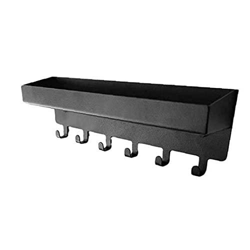 Tenedor de gancho de llaves de acero inoxidable Montaje en pared Organizador para oficina de sala de estar, estantes de almacenamiento y bastidores