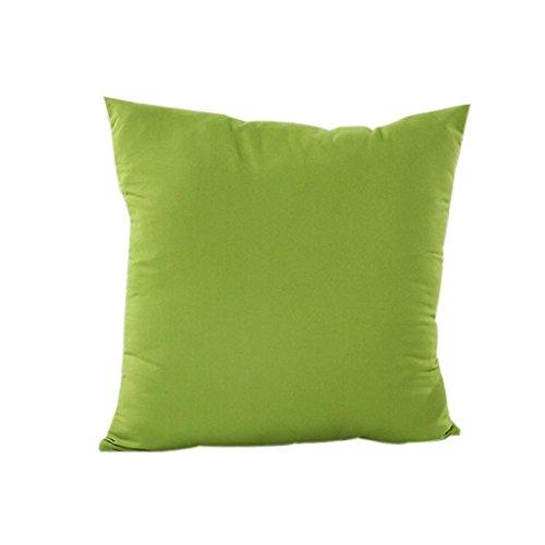 IMJONO Taies d'oreillers, Décoration de Maison Housse d'oreiller Coton Drap Housse de Coussin en Lin (45 x 45cm, Vert)