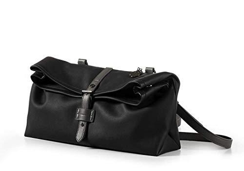 Miomojo Handtasche aus veganem Leder für Damen The Ethicool Damen Handtasche Vegan Leder und Naturfasern, Schwarz (schwarz), Small