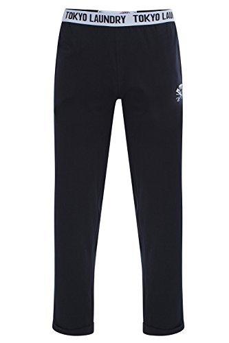 Tokyo Laundry Uomo Pantaloni da Casa Hastings Pigiama Lungo Abbigliamento da Notte - Blu Navy Scuro, XL - Vita 36