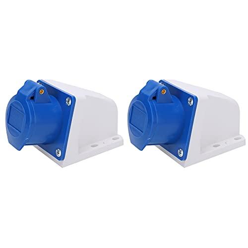 Enchufe de alimentación industrial de 2 piezas, enchufe monofásico de 3 pines, corriente nominal de 16 A para equipos industriales mecánicos de potencia