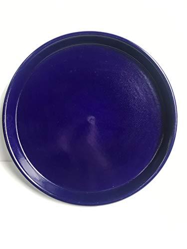 K&K Unterschale/Untersetzer PKZ rund 48 x 4,2 cm, BLAU aus hochwertiger Steinzeug-Keramik