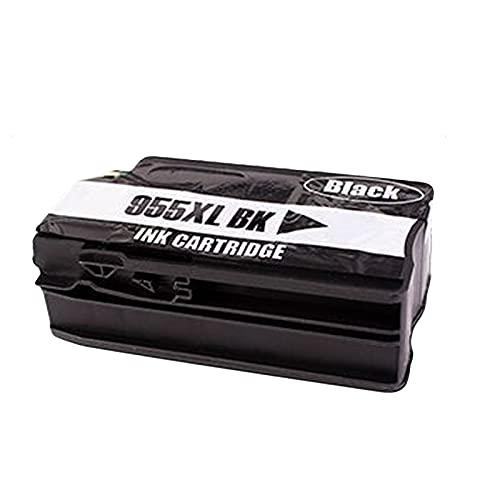 Cartucho de tinta 955XL, repuesto para impresoras HP OfficeJet Pro 7740 8210 8710 8720 8216 8745 8746 8747 compatibles con impresoras de inyección de tinta (paquete de 4) negro