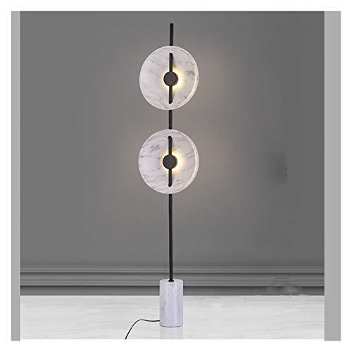 JSJJAJN Interior Moderno Blanco de la lámpara de pie Lámparas de la Sala de Estar Decoración de mármol Lámpara Luminaria LED Creativo Dormitorio lámpara de Piso (Lampshade Color : Floor Lamp)