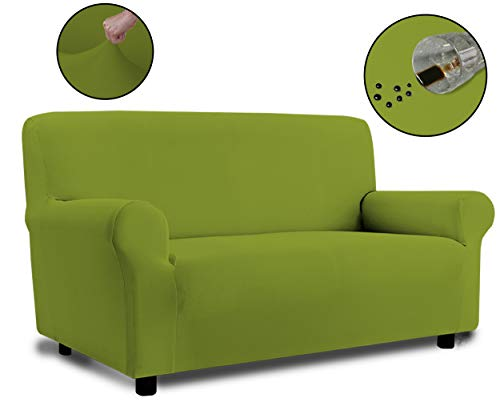 Banzaii Funda Sofa 2 Plazas Verde Claro– Elastica Impermeable – Extensible de 100 a 150 cm - Made in Italy