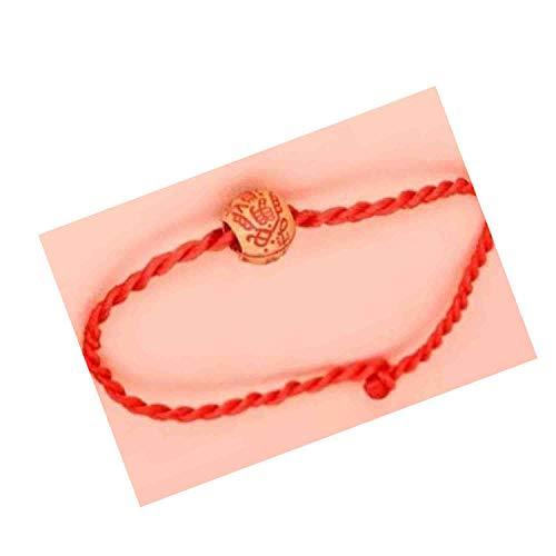 Pulsera china Feng Shui, cadena roja de 20 cm