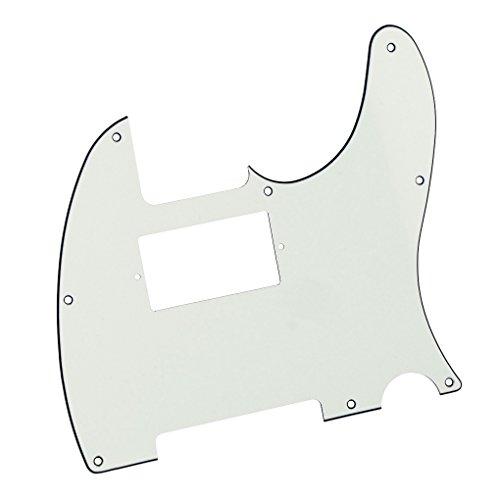 FLEOR Golpeador Humbucking Tele de 8 agujeros para guitarra de estilo moderno Telecaster estándar Fender estadounidense/mexicano, tornillos de montaje incluidos, 3 capas de color blanco marfil
