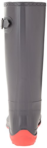Kamik Women's Olivia Rain Boot, Charcoal W PINK BOTTOM, 10 M US
