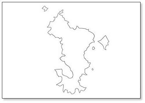 Mayotte – Mapa Región de Francia imán para nevera