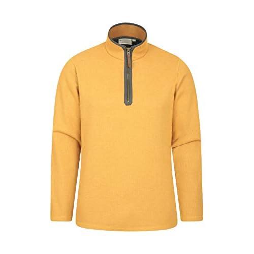 Mountain Warehouse Beta Mens Zip Neck Top – Half Zip Sweater, Warm Microfleece Lining, Lightweight – Ideal for Cold…