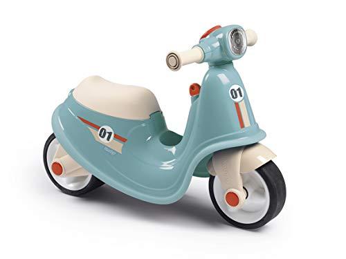 Smoby - Porteur Scooter Bleu - Pour Enfant Dès 18 Mois - Roues Silencieuses - Coffre à Jouets - 721006