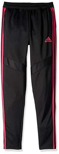 adidas Unisex child Tiro Training Pants, Black/Real Magenta, Small