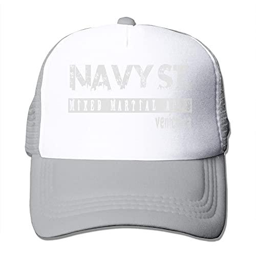 N \ A Unisex hombres y mujeres All-Match Casual Gorra de béisbol tarjeta conductor malla sombrero parasol ajustable azul marino