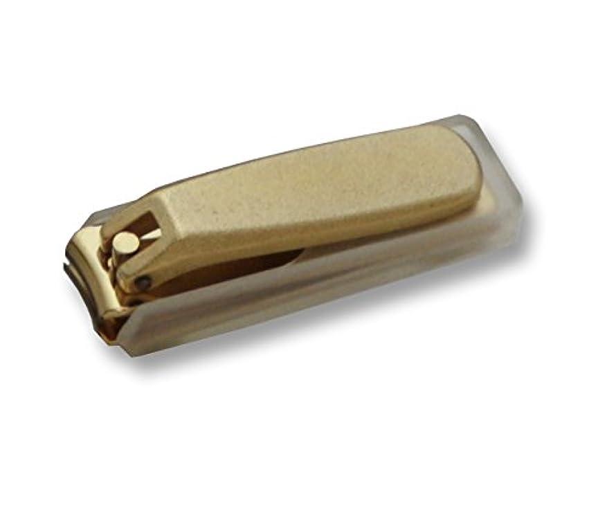 活性化する破滅文明化するKD-032 関の刃物 ゴールド爪切 小 カバー付