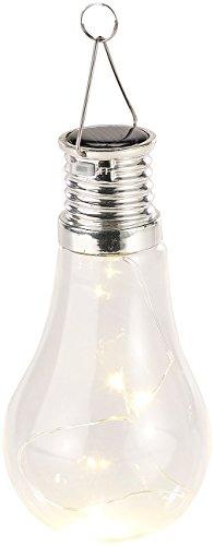 Lunartec Solar Glühbirne Garten: Solar-LED-Lampe in Glühbirnen-Form, 3 warmweiße LEDs, 2 lm, 0,024 W (Solar Hängeleuchte Glühbirne)