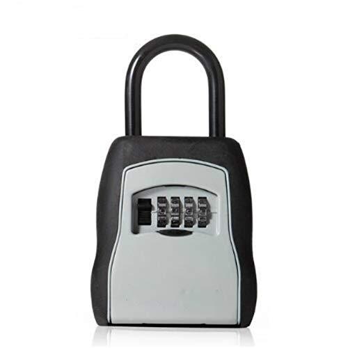 Key BoxOutdoor Key Safe Box Llaves Caja de almacenamiento Candado Uso Contraseña Aleación Material Llaves Gancho Seguridad Organizador BoxesCombination Key Safe