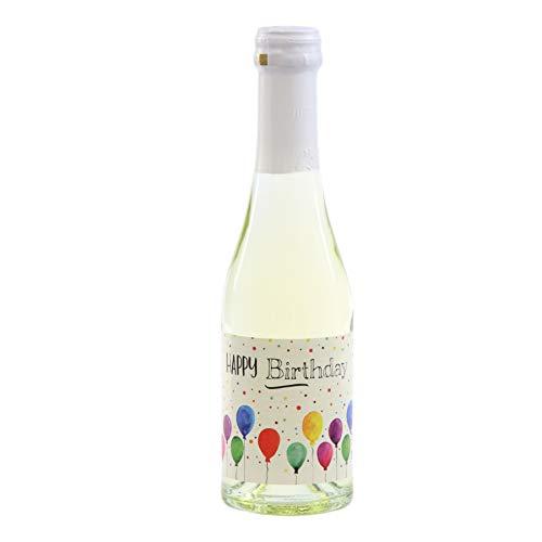 Monsterzeug Piccolo Sekt zum Geburtstag, 0,2 Liter Sektflasche mit Happy Birthday Etikett, Secco Sekt in Geschenkdose
