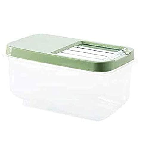 Getreide Aufbewahrungsbox Getreidebehälter Reis Lagerung Kunststoff Getreide Spender Aufbewahrungsbox Küche Lebensmittel Reiskorn Behälter Organizer Getreide Aufbewahrungsdosen Behälter Gläser