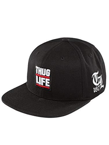 Thug Life Herren Snapback Caps Raw schwarz Verstellbar