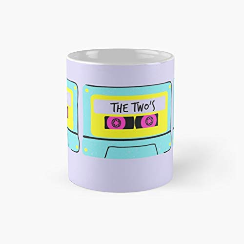 90s Mix Tape Cassette Blue 1990's Music Cd Retro Vintage Classic Mug - Gift The Office 11 Ounces Funny White Coffee Mugs-nilinkep