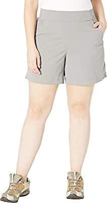 Columbia Women's Plus Size Anytime Casual Short, Light Grey, 2X x 6