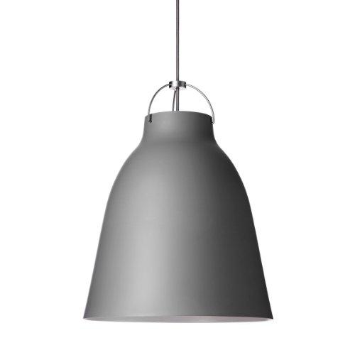 Lightyears Shapes- Pendelleuchte - Caravaggio P2, dunkelgrau mit grauem Kabel - Ø257mm - E27