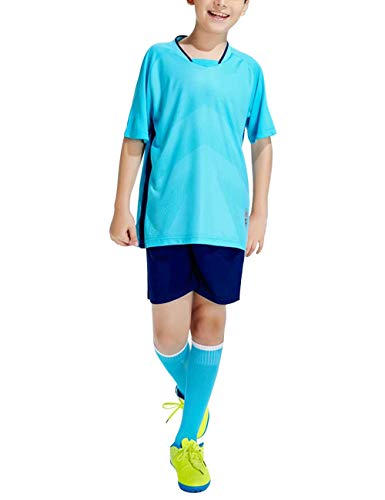 VHFIStj Kit da Calcio Estivo per Bambini Set di Addestramento della Squadra Allenamento Sportivo Abbigliamento Sportivo Pantaloncini da Jogging T-Shirt Abiti da Uomo Costume Esterno