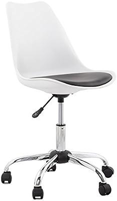 Kokoon OC00290WHBL Edea - Silla de oficina de imitación de cuero , color blanco de 57