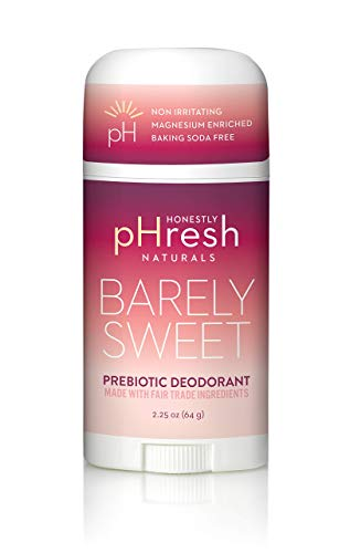 Honestly pHresh- Natural Deodorant for Women and Men - Vegan, Gluten Free, Aluminum Free & Paraben Free, Naturally Derived Ingredients Baking Soda Free Deodorant (Barely Sweet- Passion Fruit)