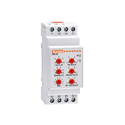 Relé de protección amperimétrico para sistemas monofásicos, máxima 24÷240V AC/DC, 4 x 7,5 x 9,5 centímetros, color gris claro (Referencia: PMA20240)