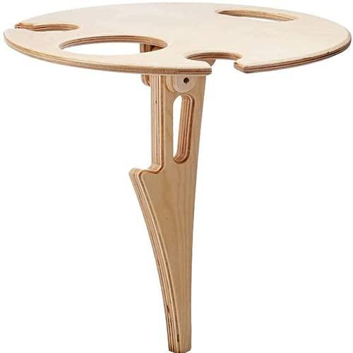 Mesa de vino al aire libre Mini de madera redonda portátil de escritorio plegable Easy Transpare Muebles Papel Picnic Picnic plegable Tablas bajas
