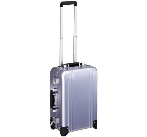 Zero Halliburton Classic Aluminum Carry On 2 Wheel Travel Case, Polished Blue, One Size