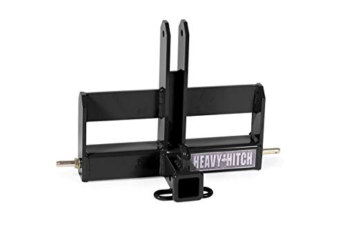 Category 0, 3 Point Hitch Receiver Drawbar with Suitcase Weight Bracket Kit - Black