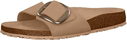 BIRKENSTOCK Womens Mules Madrid Big Buckle Cuir Nubuck Light Rose Slides, 39 EU