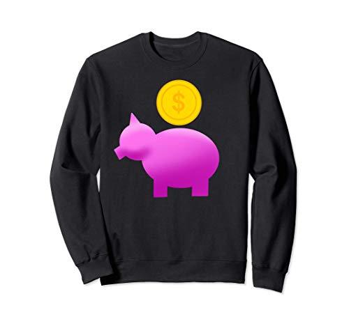 Sparschwein Geschenkidee für geizige Sparfüchse Geld Münze Sweatshirt
