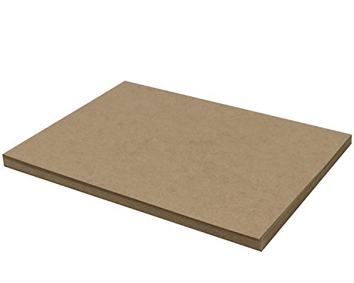 25 Chipboard Sheets 9 x 12 inch - 22pt (Point) Light Weight Brown Kraft Cardboard for Scrapbooking & Picture Frame Backing (.022 Caliper Thick) Paper Board | MagicWater Supply