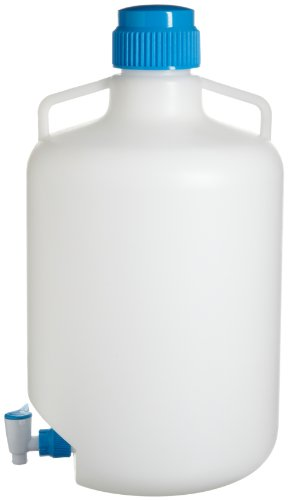 Bel-Art Autoclavable Polypropylene Carboy with Spigot; 20 Liters (5.3 Gallons) (F11846-0050)