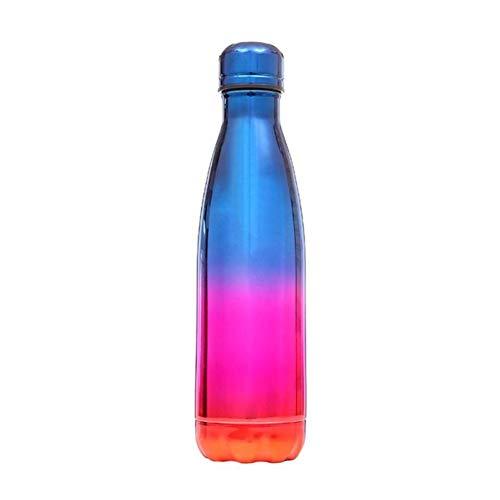 CGMZN Wasserglasbeutel Portable 500ml en Acier inoxydable Placage Thermo Bouteille D'eau Thermique Tasse Froide Sports Bouilloire Pour Vélo En Plein Air Bouteille D'eau
