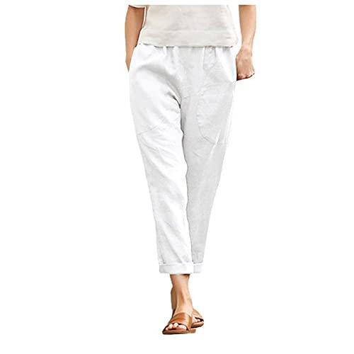 Dasongff Pantacourt Femme Slim Pantalons Longues 3/4, Sarouel Legging Casual Eté Confortable Boutons Shorts Mode Sport Yoga Fitness Pants, Pantalons de Plage Décontractée Léger Pas Cher