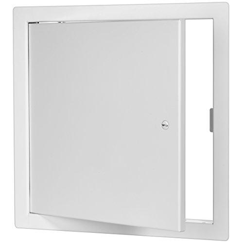 Premier 2002 Series Steel Access Door, 12 x 12 Flush Universal Mount, White (Screwdriver Latch)