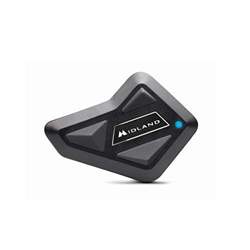 MIDLAND BT MINI シングル C1410.10 バイク用 プレミアムサウンド Bluetooth インカム 高音質Hi-Fiスピーカー標準搭載 ソロライダーにおすすめ ヘルメットの中で音楽が聴ける 音声認識機能(Siriなど)呼び出し可能 タンデム間インカム通話可能 ワンボタン 簡単操作 日本語音声案内