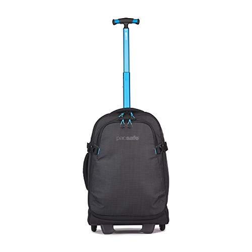 Pacsafe Toursafe 21 Rollkoffer, Reisegepäck, Koffer mit 4 Rollen, leichte Reisetasche mit Diebstahlschutz, 42 Liter, Schwarz/Black
