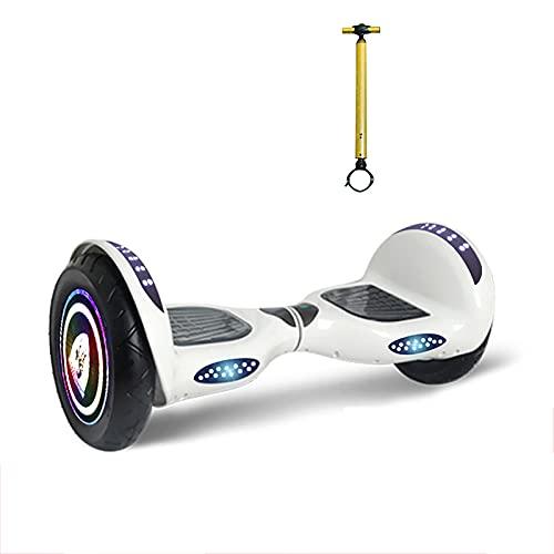 Hoverboard Self Balancing Patinete Elétrico Coche Inteligente de Dos Ruedas reposabrazos para Adultos somatosensorial Scooter,Weiß