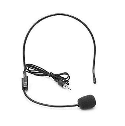 DAIZEN Head Band 3.5mm Unidirectional Head mic Flexible Wired Mic Plug & Play Condenser Lapel Microphone for Voice Amplifier Teachers Presentations Recording Neck Mic for Mobile