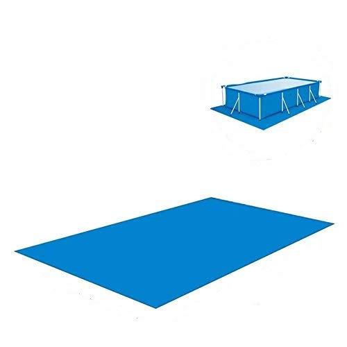 Shinyzone Rechteckiger Pool Grundtuch Bodenmatte 338 x 239 cm,Schwimmbecken Matte Faltbarer Wasserdichtes Teppichboden Polyester Pool Bodenplane für Aufblasbare Pools Oberirdische,Blau