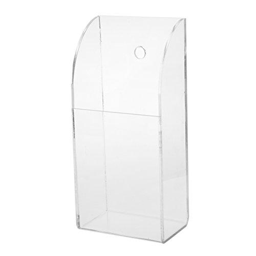 perfk Caja de Almacenamiento Transparente de La Caja de La Pared del Tenedor del Control Remoto del Aire Acondicionado